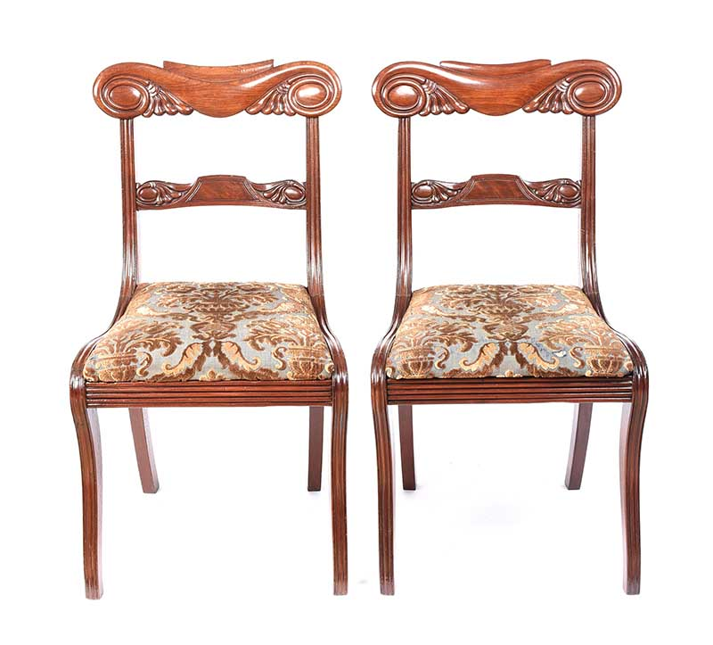PAIR OF WILLIAM IV MAHOGANY SIDE CHAIRS - Image 4 of 5