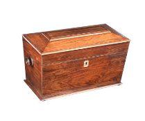 GEORGIAN ROSEWOOD JEWELLERY BOX