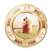 VIENNA PORCELAIN HAND PAINTED PLATE