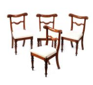 SET OF FOUR VICTORIAN MAHOGANY DINING ROOM CHAIRS