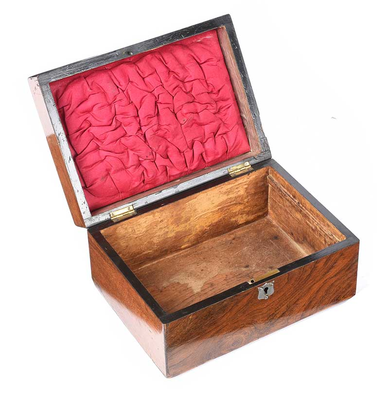 WALNUT JEWELLERY BOX - Image 3 of 3