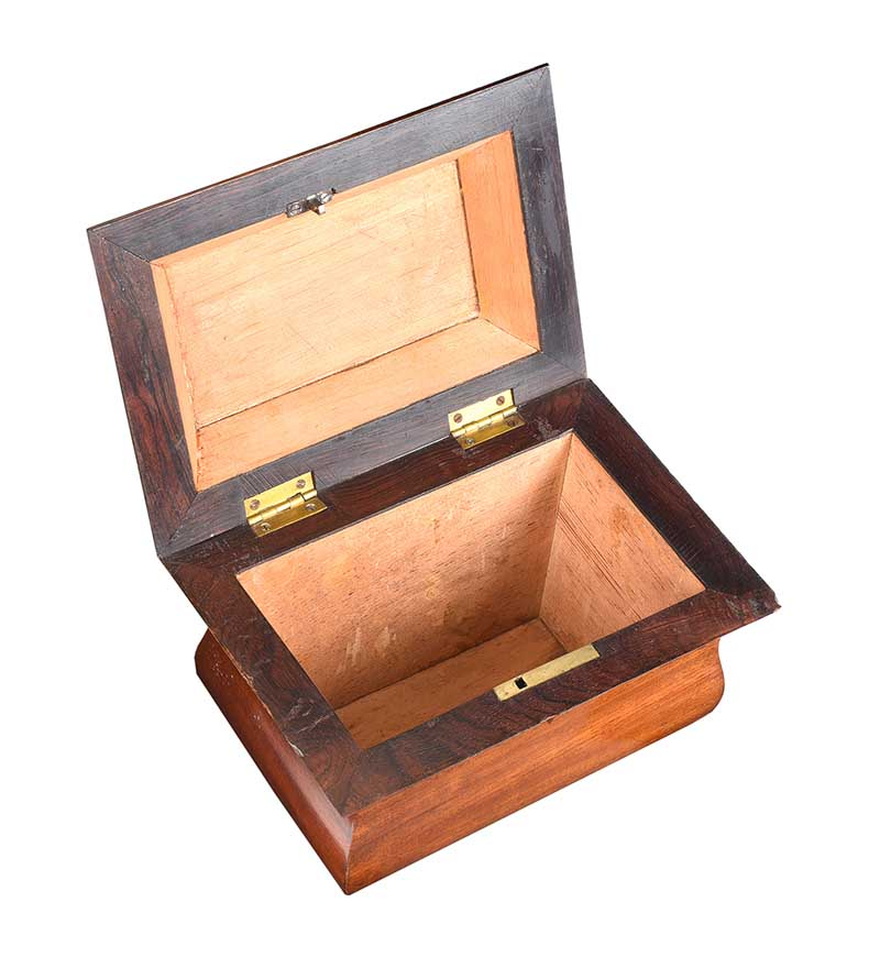 REGENCY ROSEWOOD & MAHOGANY JEWELLERY BOX - Image 3 of 4