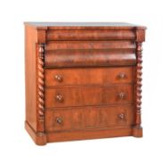VICTORIAN MAHOGANY SCOTCH CHEST OF DRAWERS