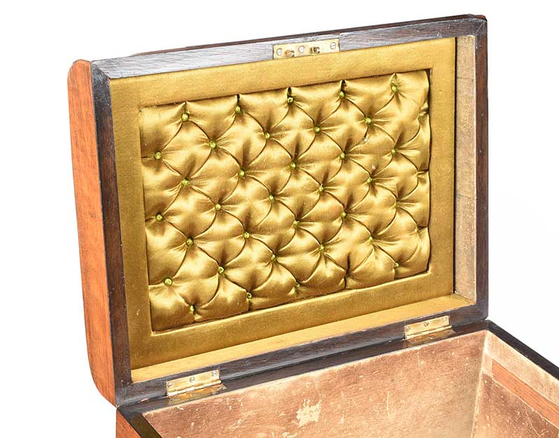 VICTORIAN WALNUT JEWELLERY BOX - Image 5 of 5
