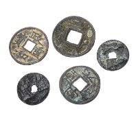 FIVE CHINESE COINS