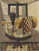 Claude Venard, French, 1913 1999- Nature Morte à la Guitar; oil on canvas, signed lower right 34 x