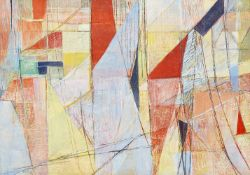 Paul Bercot, French 1898-1970- Les Voiles, 1952; oil on canvas, signed and dated 52 lower left;