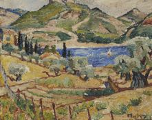 Maria-Mela Muter, French-Polish, 1876 - 1967- Landschaft; oil on board, signed lower right, 33 x