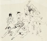Jules Pascin, Bulgarian/American 1885-1930- Brutalité (Brutality), 1927; ink, signed and bears
