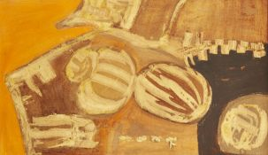 Trevor Coleman, South African b.1936- Abstract No.1, 1964; oil on board, signed and dated 64 lower