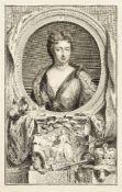 Jacobus Houbraken, Dutch 1698-1780- Queen Anne, after Sir Godfrey Kneller; copper engraving, dated
