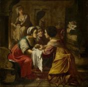 Jean Daret, Flemish 1614-1668- The Birth of the Virgin, 1639; oil on canvas, signed and dated, 74.