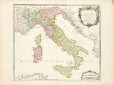 Didier Robert de Vaugondy, French ca. 1723-1786- L'Italie qui comprend les Etats de Piemont, les
