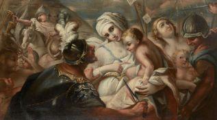 Follower of Luca Giordano, Italian 1635-1705- The Massacre of the Innocents; oil on canvas, 88.