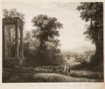 Francois Vivares, French/British 1709-1780- A Shepherd and Shepherdess, engraved from an original