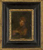 Follower of Samuel Dirksz van Hoogstraten, Dutch 1627-1678- Portrait of a young boy, seated half-