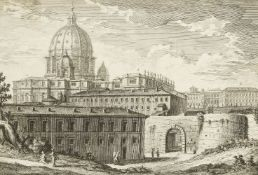 Giuseppe Vasi, Italian 1710-1782- Porta Cavalleggieri ot Posterula; etching, from Delle magnificenze