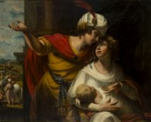 Studio of George Romney, British 1734-1802- The Departure for Canaan: Jacob and Rachel with the