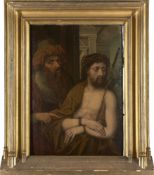 Circle of Quentin Matsys the Elder, Flemish 1466-1530- Ecce Homo; oil on panel, 80.5x57.5cm
