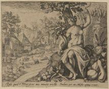 Gerard de Jode, Flemish 1509-1591 and Petrus de Jode the Elder, Flemish 1570-1634- Cara, etenim