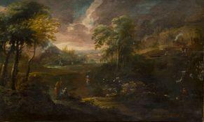 Follower of Jan Frans van Bloemen, called l'Orizzonte, Flemish 1662-1749- Classical Landscape with