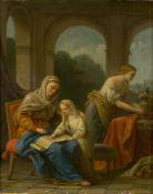 Studio of Louis-Jean-François Lagrenée, French 1725-1805- The Education of the Virgin; oil on