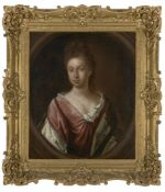 Circle of Mary Beale, British 1633-1699- Portrait of a lady, traditionally held to be Duchess de