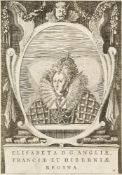 After Isaac Oliver, British 1560-1617- Queen Elizabeth I; engraving, 24.5x17cm: together with twelve