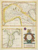 Sutton Nicholls, British 1689-1729- A New Map of Gallia Cisalpina & Graecia Magna, their cheif