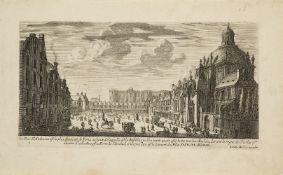 Jean Marot, French 1619-1679- and Jacques Van Merlen, French 1616-1682- La Rue Saint-Antoine, Paris,