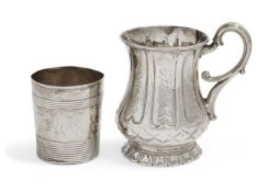 A Victorian silver christening mug, Sheffield, c.1852, Henry Wilkinson & Co., of baluster form