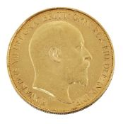 A gold £5 coin, Edward VII, 1902Please refer to department for condition report