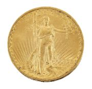 A USA gold $20 coin, 1908Please refer to department for condition report