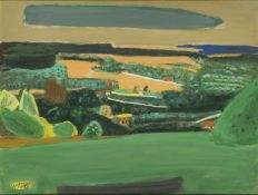 Henri Hayden, French 1883-1970- Paysage, 1959; gouache, signed and dated 59 lower right, 48 x