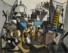 Claude Venard, French 1913 - 1999- Nature Morte au Sacré Coeur, 1991; oil on canvas, signed lower