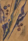 Natalie Gontcharova, Russian 1881-1962- Abstract composition, circa 1950; watercolour and pencil,