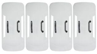 Michael Joo, American/ Korean b.1966- Divided/Echoed, 2012; four shields, aluminized low-iron glass,