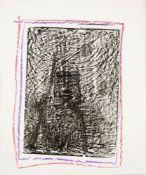 Sir Sidney Nolan OM AC RA, Australian/ British 1917-1992- Untitled, (Ned Kelly),circa 1958; wax