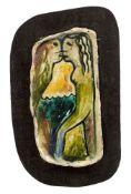 Arthur Boyd AC OBE, Australian 1920-1999- Lovers; glazed ceramic, inscribed 1891 on the reverse,
