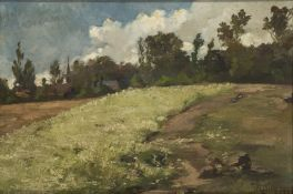 John Rettig, America 1858-1932- Landscape, 1899; oil on canvas, signed and date 1899 lower right;
