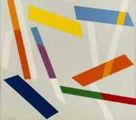 René Roche, French 1932-1992- Signes dans l'Espace, 1982; oil on canvas, signed and dated 12. 92