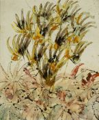 Sir Sidney Nolan OM AC RA, Australian/ British 1917-1992- Flowers, 1970; oil on paper, signed,
