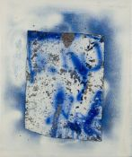 David Ostrowski, German b.1981- F(Skull), 2011; oil, lacquer and fleece on canvas, 200 x 197cm (ARR)