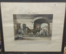 After R SCANLAN, Horse Dealing No 1 and Horse Dealing No 2, engraved by J Harris,