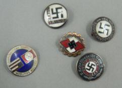 Five Nazi type badges