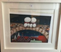 DOUG HYDE (born 1972) British, Neighbourhood Watch, limited edition print, framed and glazed,