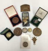 A collection of medals,