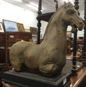 A model of an antiquity horse