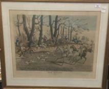 TOM MOODY, three hunting prints after J POLLARD, engraved by George Hunt,