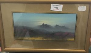 FRANK HOLME (20th century) British, Moorland Scenes, a pair, gouache, signed, framed and glazed,